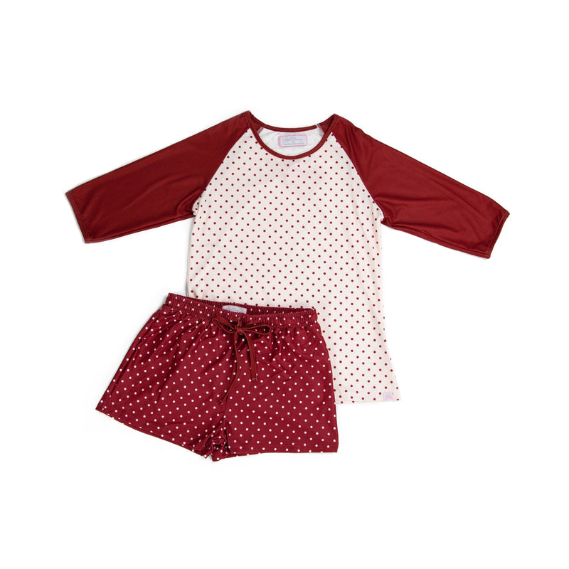 Women's Shortie PJs - Winter Berry
