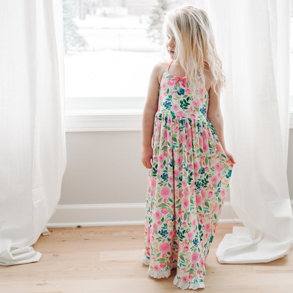Dreamer Long Gown - Fresh Blooms