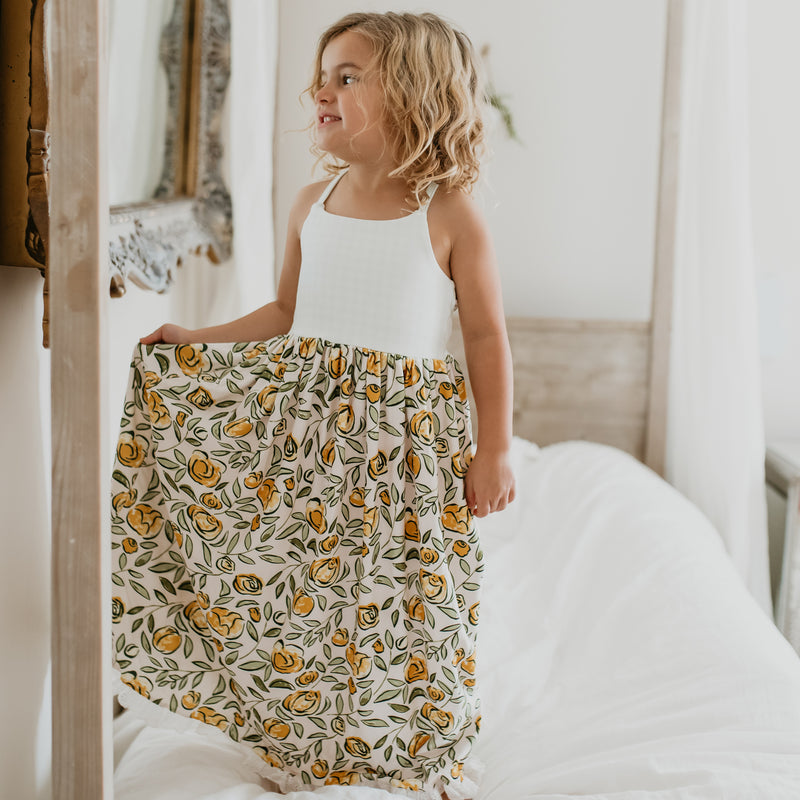Dreamer Long Gown - Carefree Yellow Floral