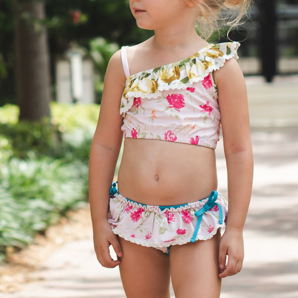 Mia Crop Tankini - Pink Lemonade