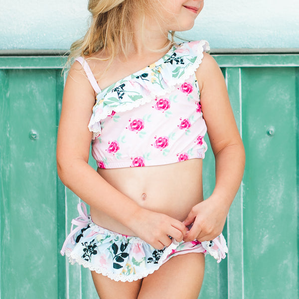 Mia Crop Tankini - Waves