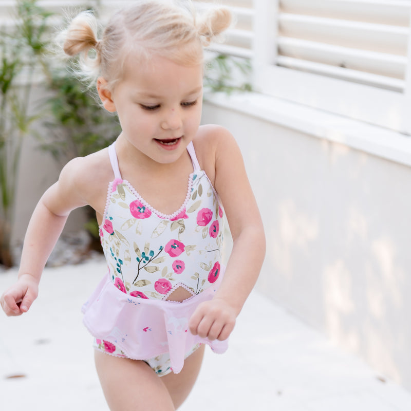 Morgan Skirted One Piece - Wild Unicorns