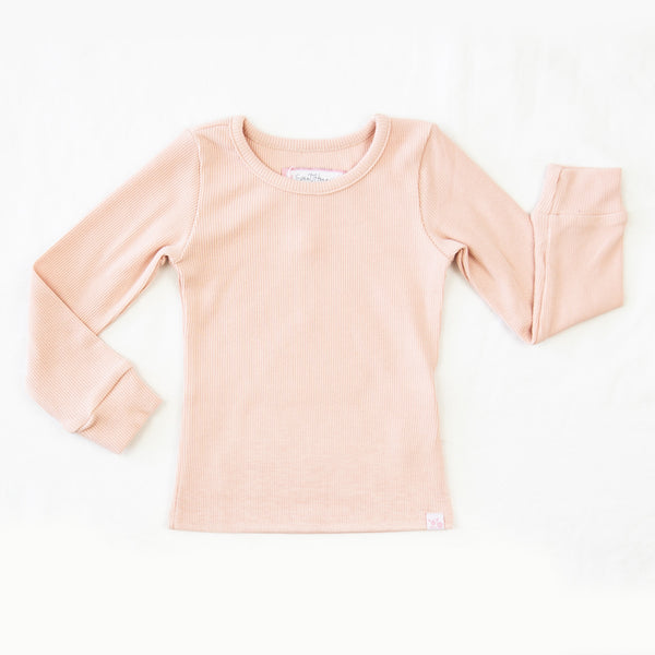 Lanie LS Layering Top - Peach