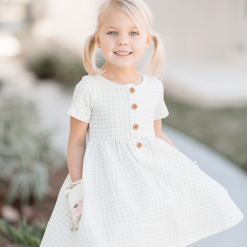 Kate Playdate - Mint Gingham