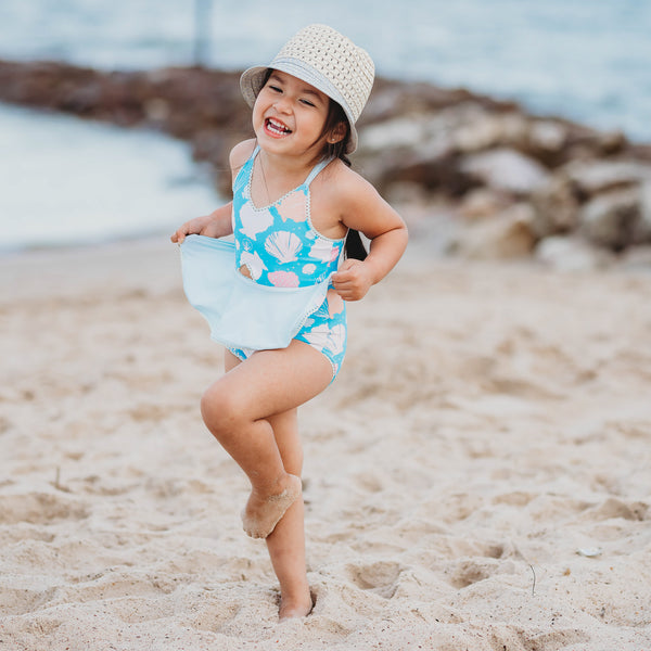 Morgan Skirted One Piece - Seashell