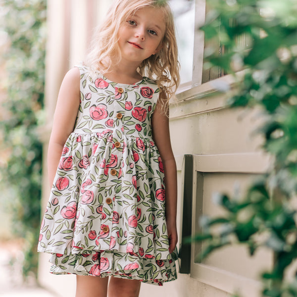 Prim Dress - Carefree Pink Floral