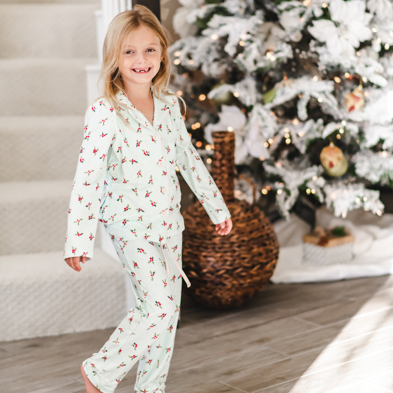 Cozy PJs - Blue Holly