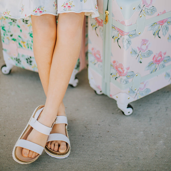 Strappy Cork Sandal - White
