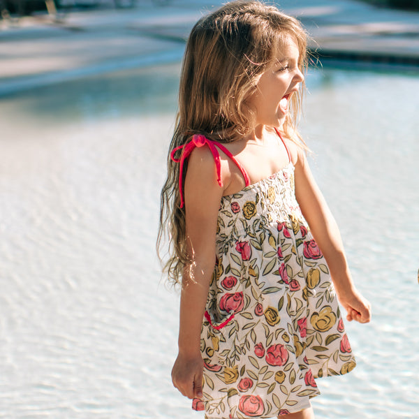 Smocked Beach Tunic - Dragonfly