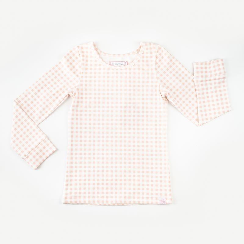 Lanie Layering Top - Strawberry Gingham
