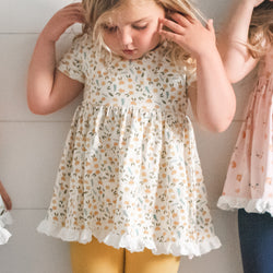 Belle Tunic - Cream Floral