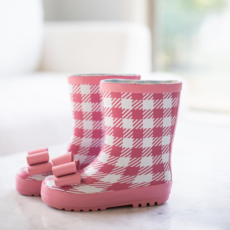 Cheery Rain Boot - Mod Check Orchid