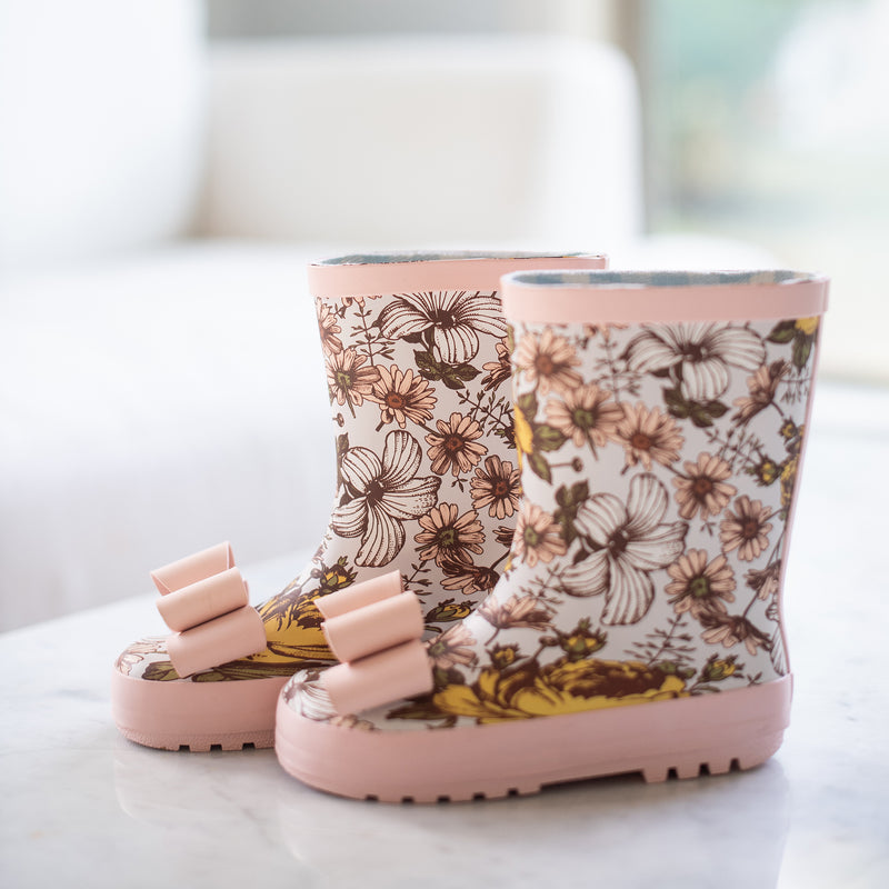 Cheery Rain Boot - Secret Daisy