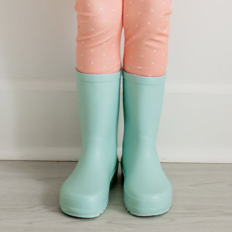 Cheery Rain Boot - Aqua