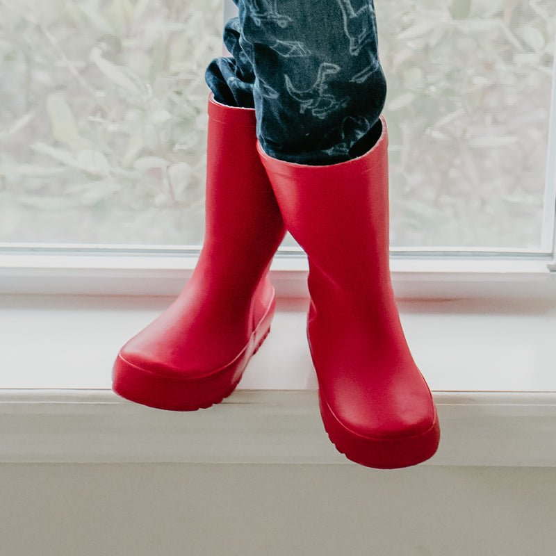 Cheery Rain Boot - Cherry