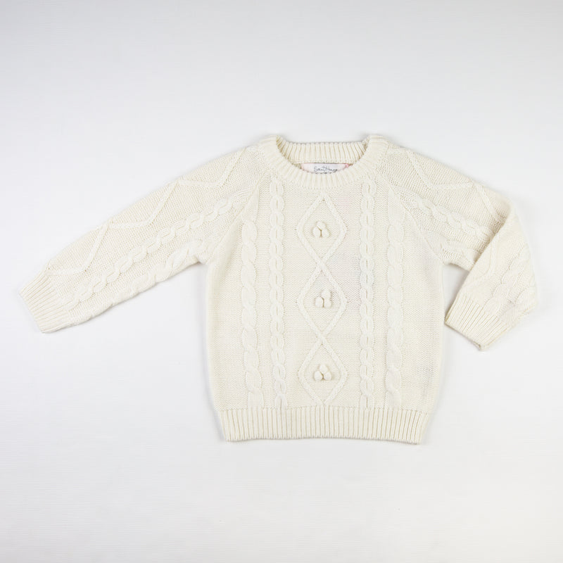 Chunky Cableknit Sweater - Cream