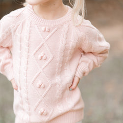 Chunky Cableknit Sweater - Pink
