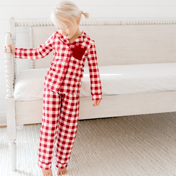 Kid's Cozy PJ - Scarlet Check - Final Sale