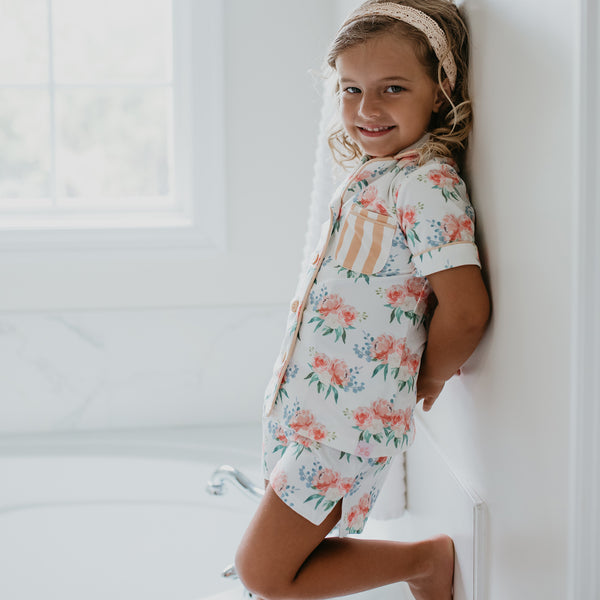 Girls Cozy PJ - Just Peachy - Final Sale