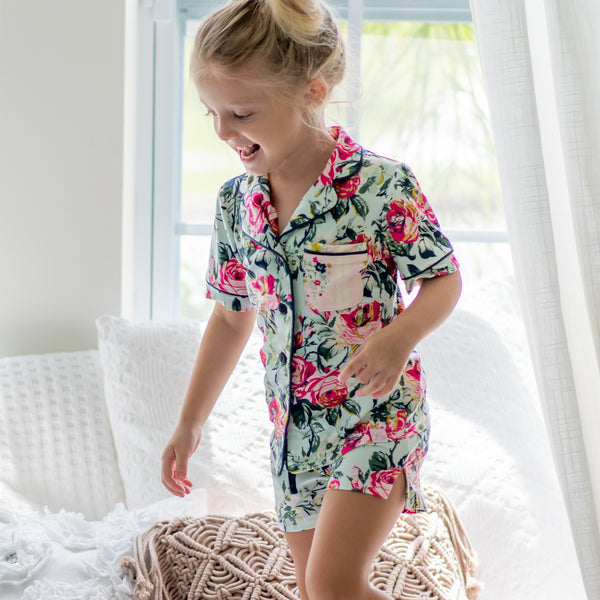 Girls Cozy PJ - Regal Roses - Final Sale
