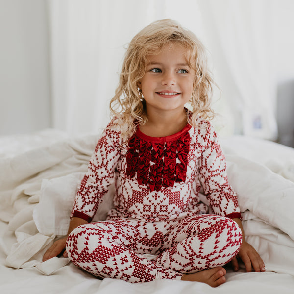 Dreamer Toddler 2-Piece - Sweater Snowflake Scarlet - Final Sale