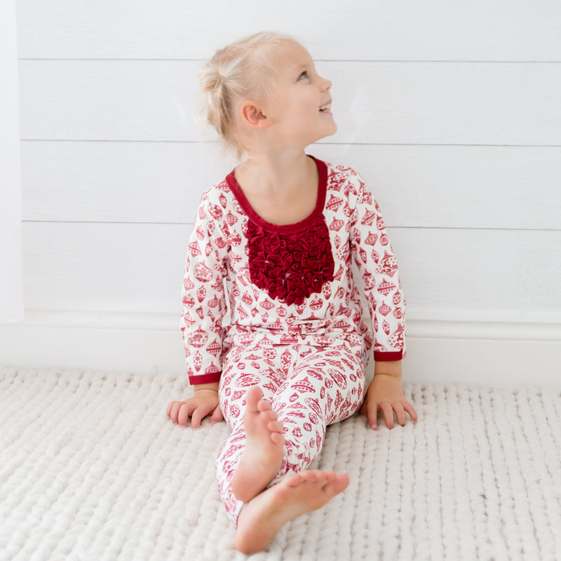 Dreamer Toddler 2-Piece - Vintage Ornaments Scarlet - Final Sale