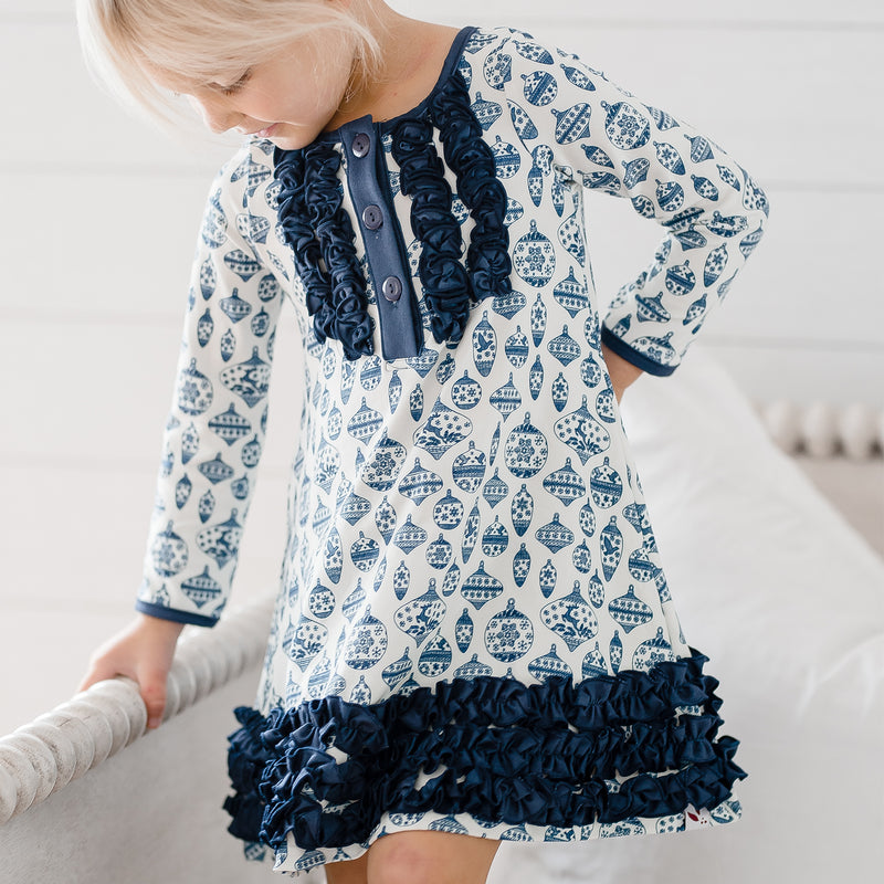 Dreamer Gown - Vintage Ornaments Navy - Final Sale