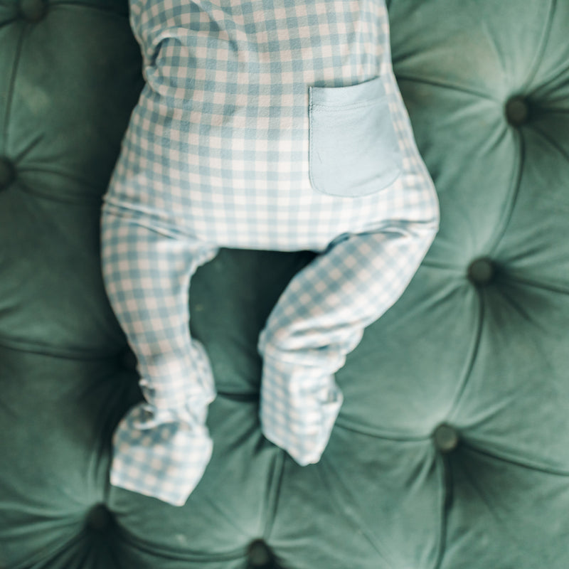 Dreamer Layette - Blue Check