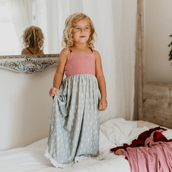 Dreamer Long Gown - Sage Trees - Final Sale