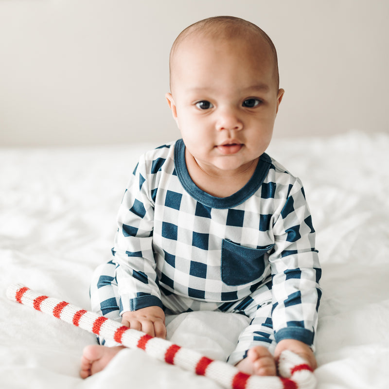 Dreamer Toddler 2-Piece - Navy Check - Final Sale