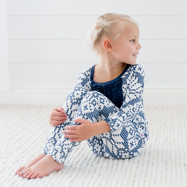 Dreamer Toddler 2-Piece - Sweater Snowflake Navy