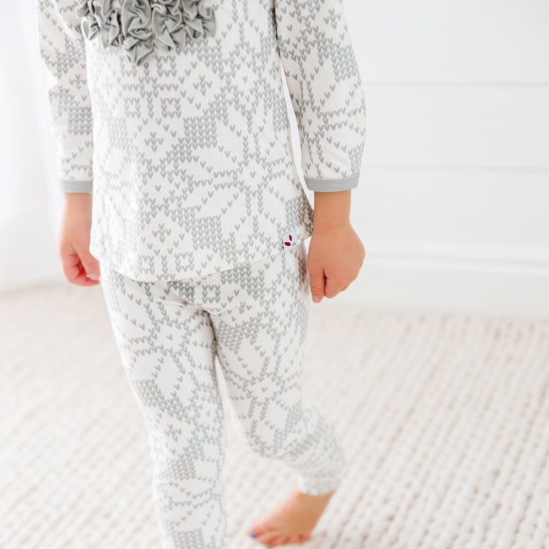 Dreamer Toddler 2-Piece - Sweater Snowflake Sage - Final Sale