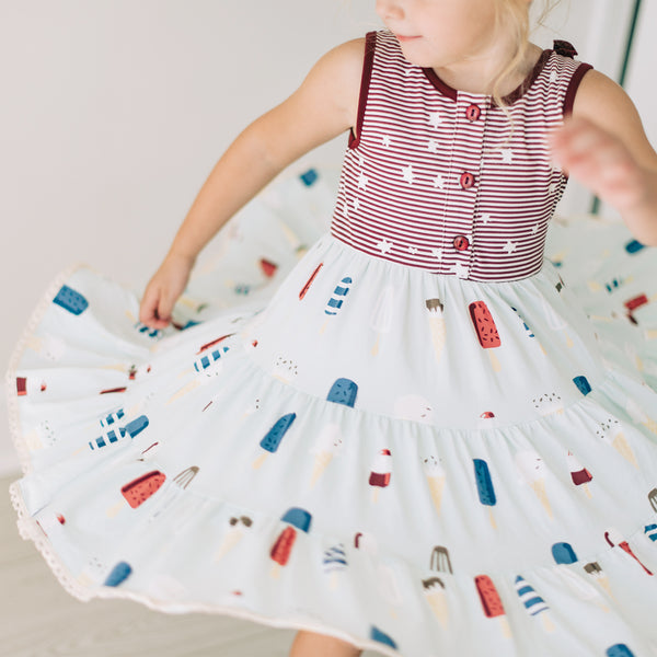 Flair Dress - Bottle Rocket - Final Sale