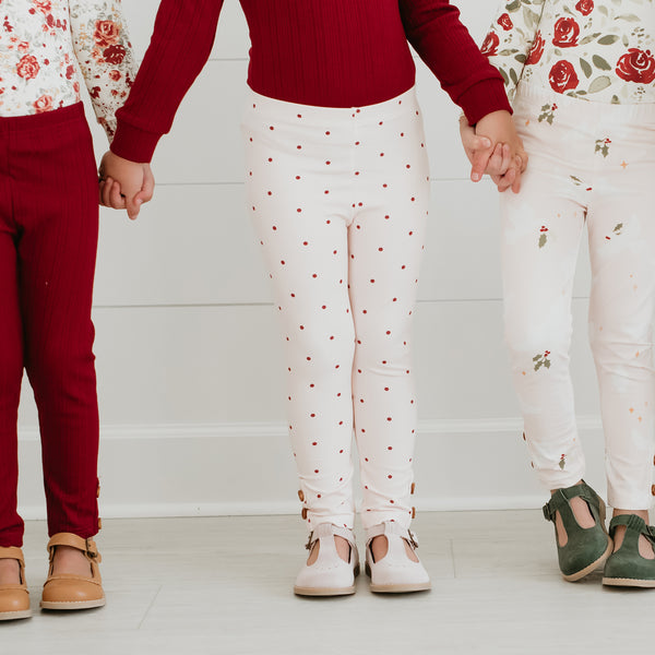Frankie Leggings - Scarlet Dotty