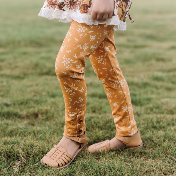 Frankie Leggings - Little Daisies - Final Sale