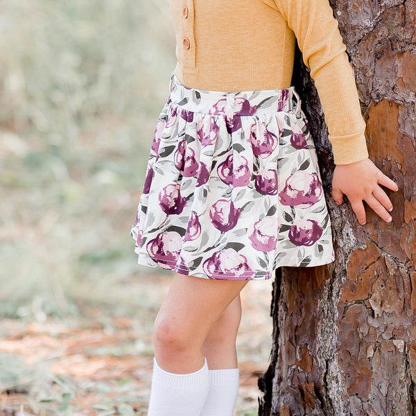 Garden Skirt - Plum Whisp