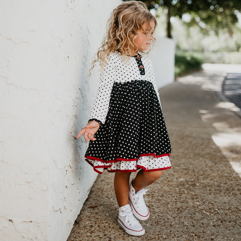 Hazel Dress - Black Dotty Days