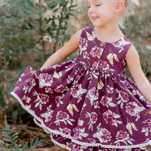 Hazel Dress - Garden Plum