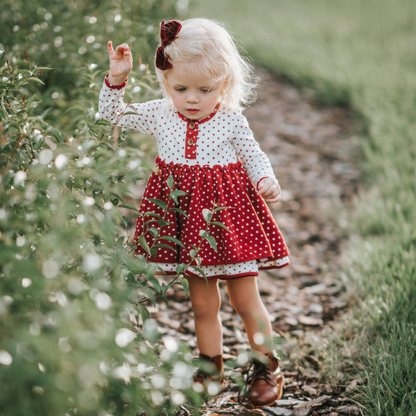 Hazel Dress - Red Dotty Days