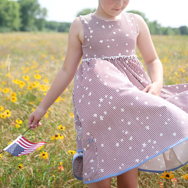 Hazel Dress - Stars and Stripes - Final Sale