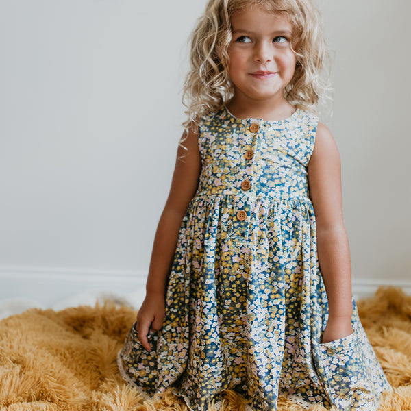 Josie Dress - Ditzy Flowers - Final Sale