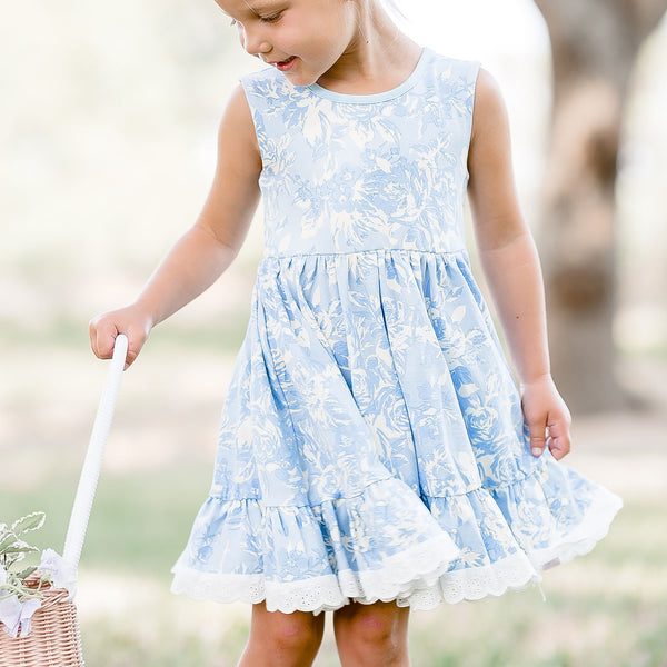 Josie Dress - Mono Blue