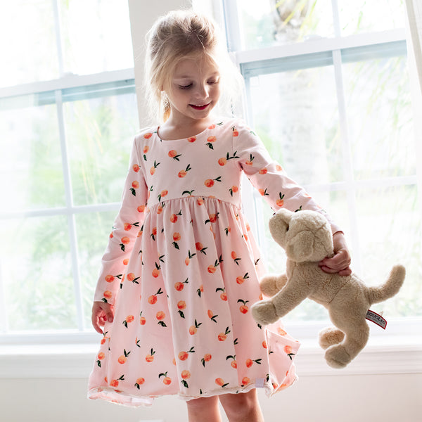 Josie Dress - Rosey Peach - Final Sale