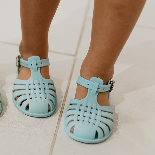 Matte Jelly Sandals - Light Blue
