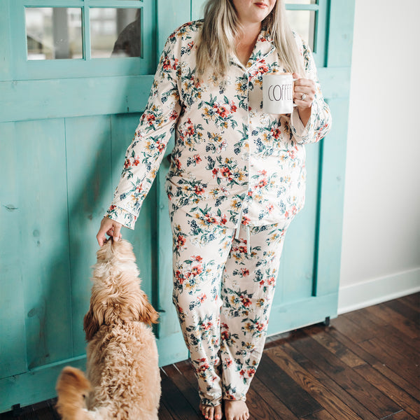 Women's Cozy PJ - Coneflowers - Final Sale