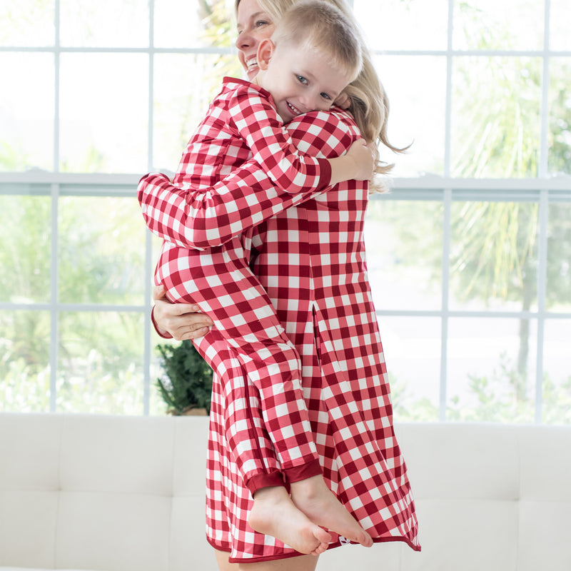 Women's Gown - Scarlet Check