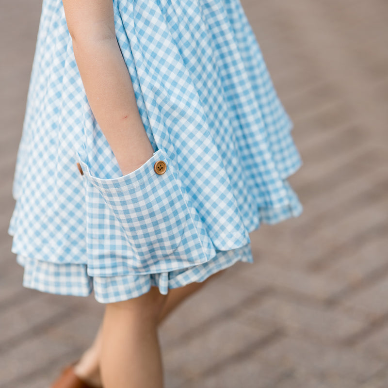 Prim Dress - Blueberry Gingham
