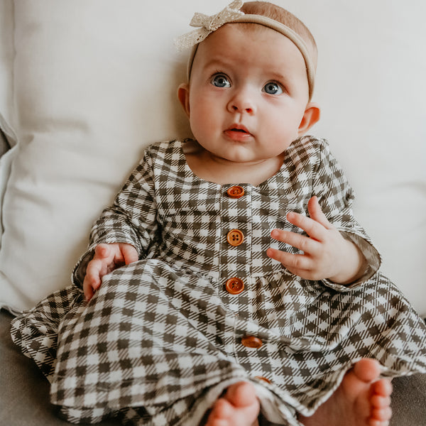 Prim Dress - Chocolate Check