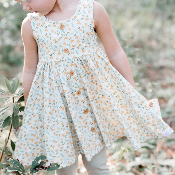 Prim Dress - Dusty Floral