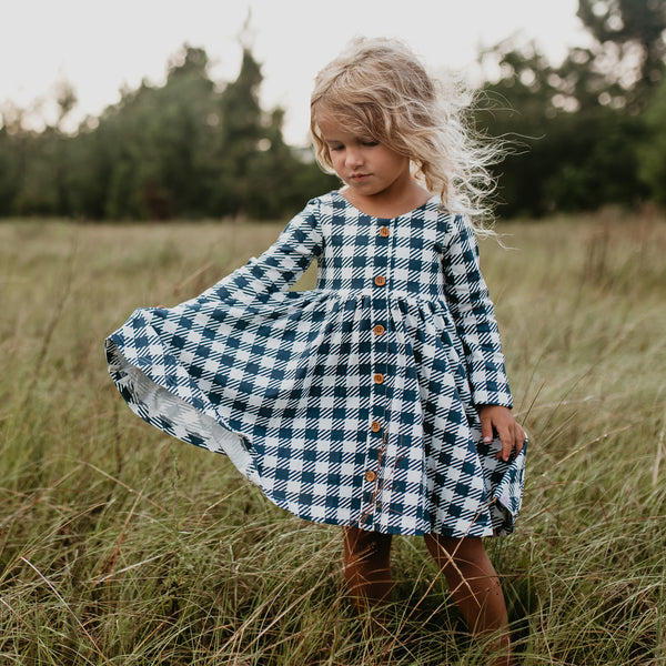 Prim Dress - Navy Check